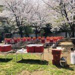 和田掘公園お花見BBQ